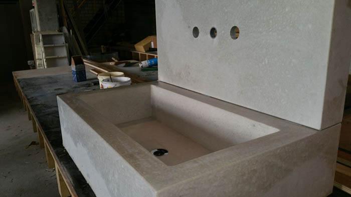 Wasbak badkamer beton betonstuc prijs advies voorbeelden van beton cire liefde voor de - Badkamer was beton prijs ...