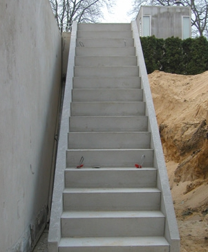Betontrappen for Verdreven trap